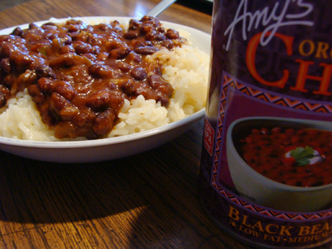 Monk Island Amy S Black Bean Chili With White Rice