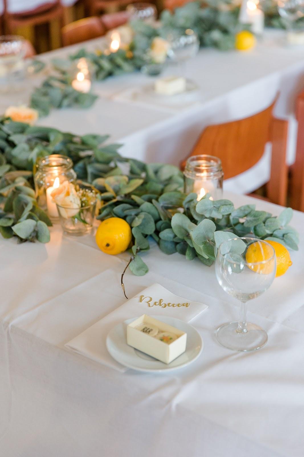 Tischdeko für eine Hochzeit selber machen DIY