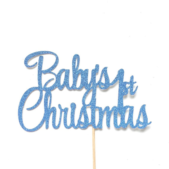 Baby's first Christmas cake topper