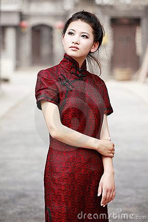 pakaian baju tradisional china cheongsam