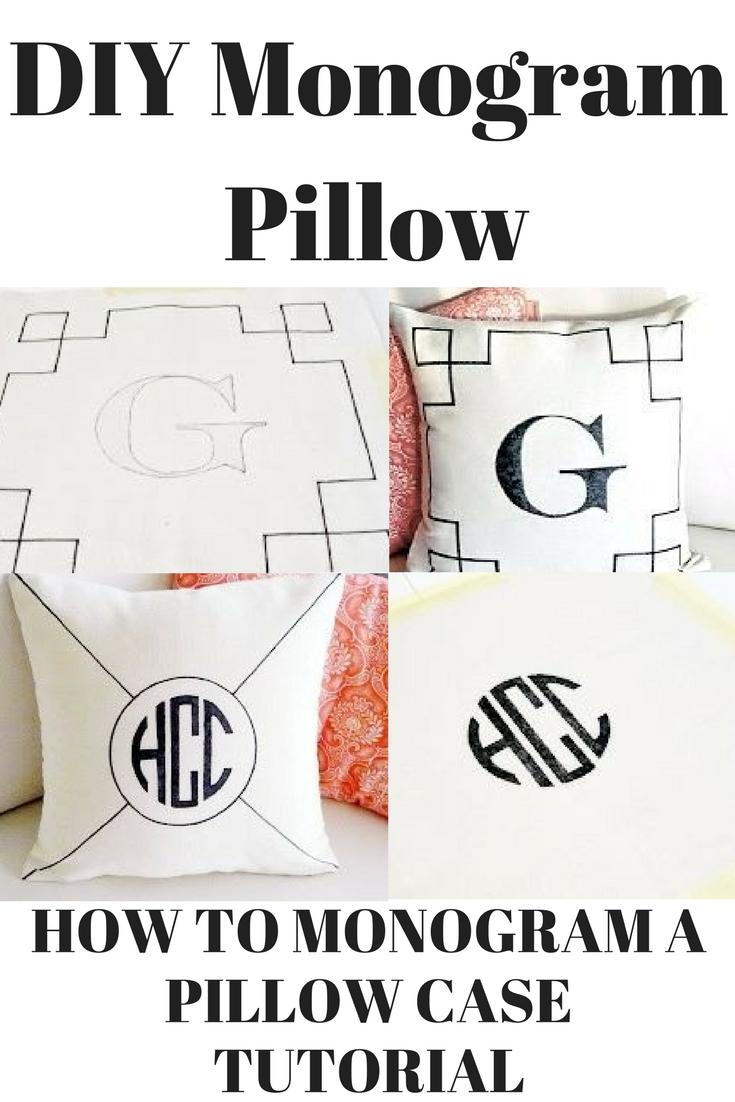 DIY Monogram Pillow | Home Chic Club: DIY Monogram Pillow