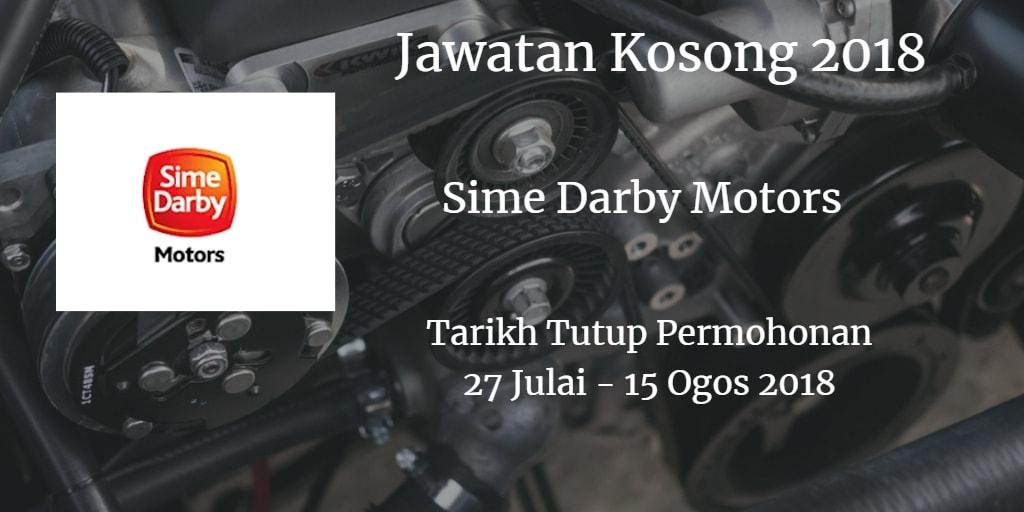 Jawatan Kosong Sime Darby Motors 27 Julai - 15 Ogos 2018