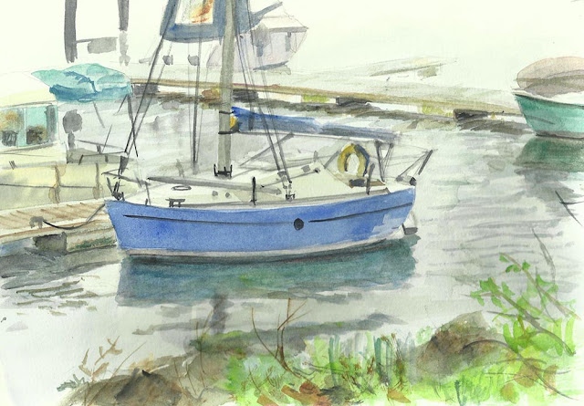 M P davey water colour sketch