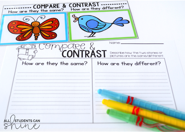 guided reading compare and contrast