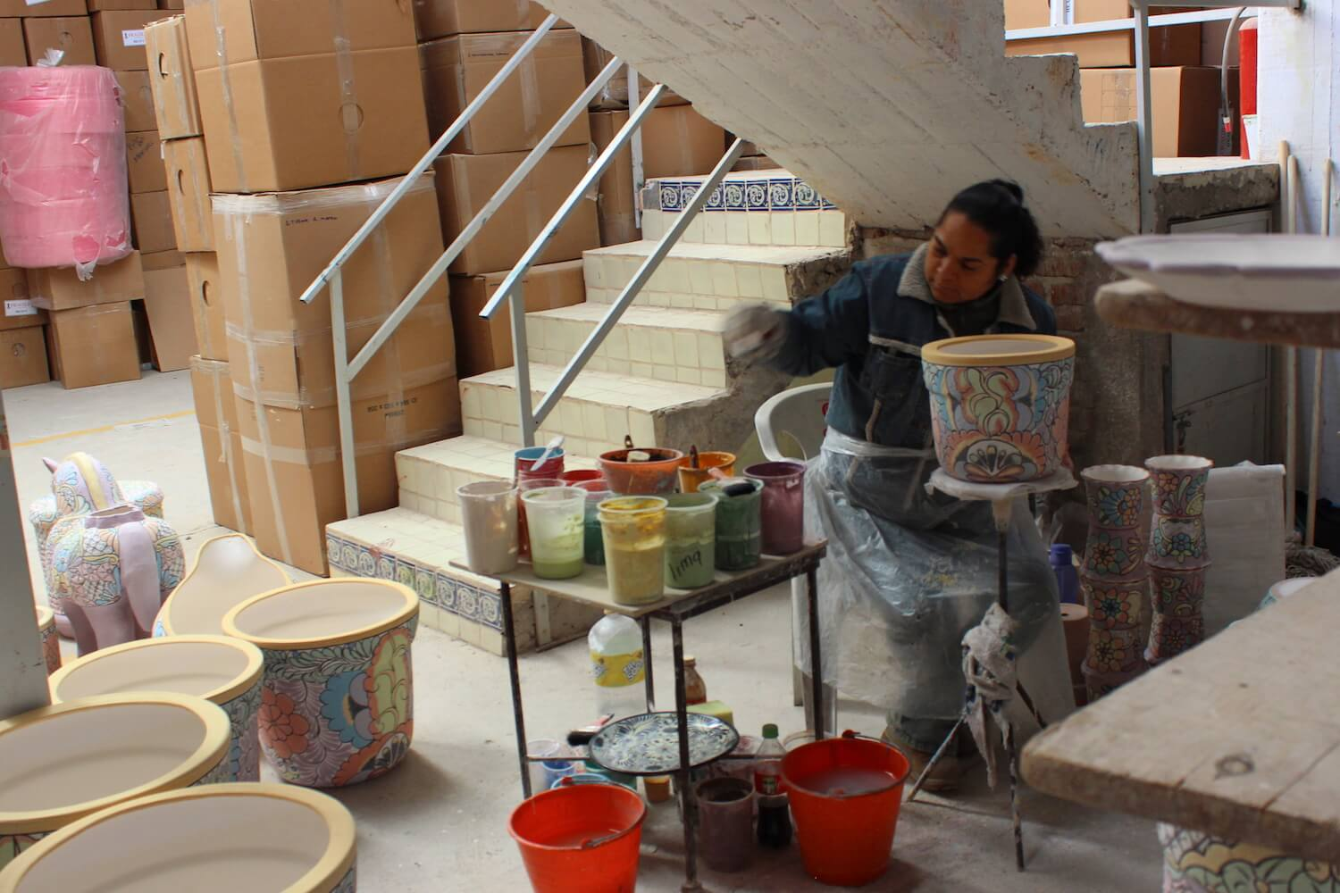 dolores hidalgo shop making pottery talavera