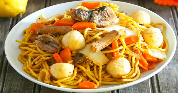 Pancit Canton With Sardines Recipe