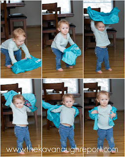 Teach toddlers how to put on their coats the Montessori way. This easy coat flip trick can be used with the youngest kids.