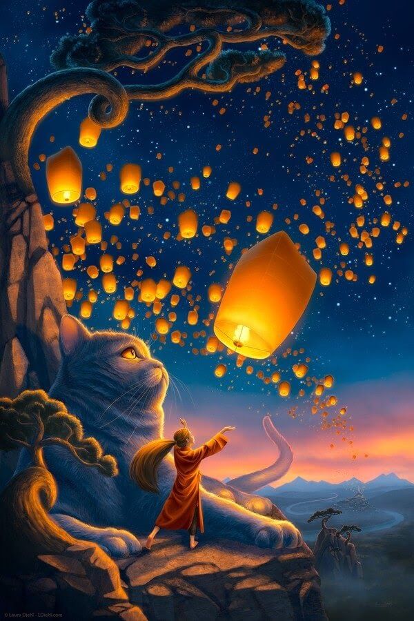 01-Lantern-Cat-Laura-Diehl-Fantasy-www-designstack-co