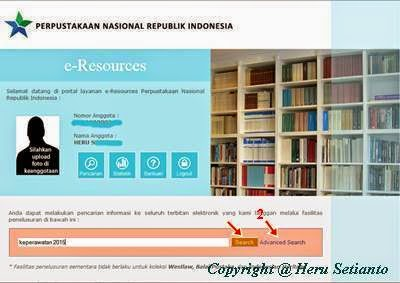 Cara Download Jurnal di E-Resources, langkah-langkah download jurnal di website Perpustakaan Nasional Republik Indonesia, cara dowload artikel di website PNRI