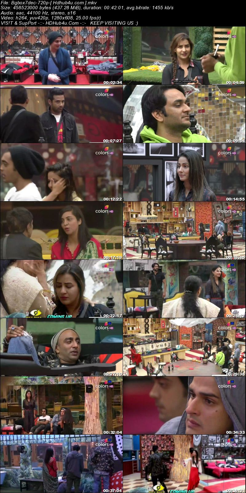 Bigg Boss S11E68 7th December 2017 HDTV 480p 200MB Download