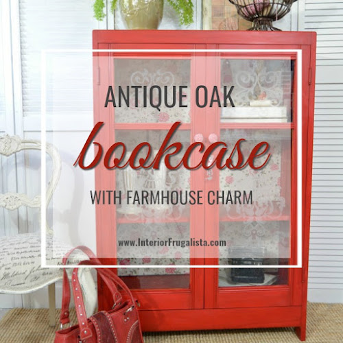 How To Add Charm To An Antique Oak Bookcase