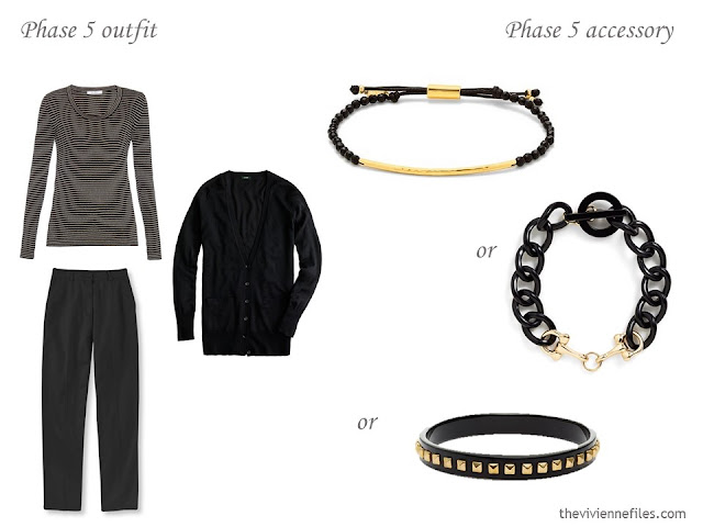 What bracelet to wear with a black outfit?