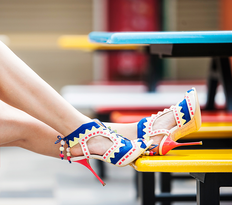 Crystal Phuong- Singapore Fashion Blog- Color block Sophia Webster Riko Sandals