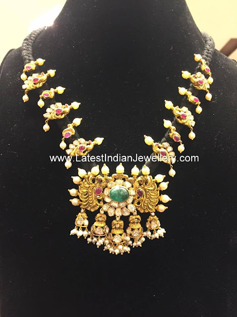 Heavy Nakshi Work Dori Necklace