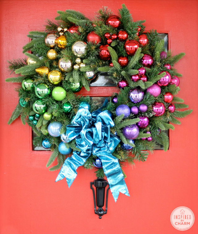 Gradient Rainbow Christmas Wreath