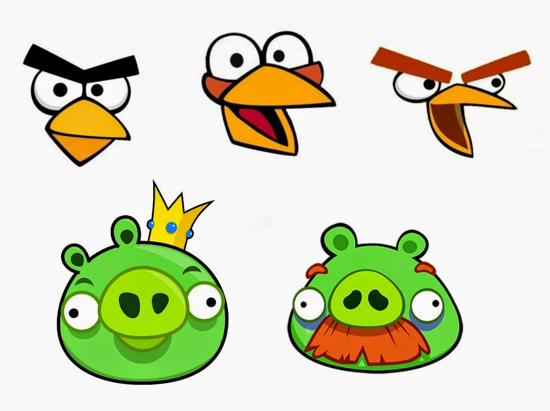 Esselle crafts angry birds twister game for Angry bird pig template