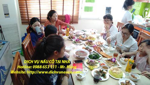 Nấu cỗ ở Long Biên - Tiệc nhà chị Giang