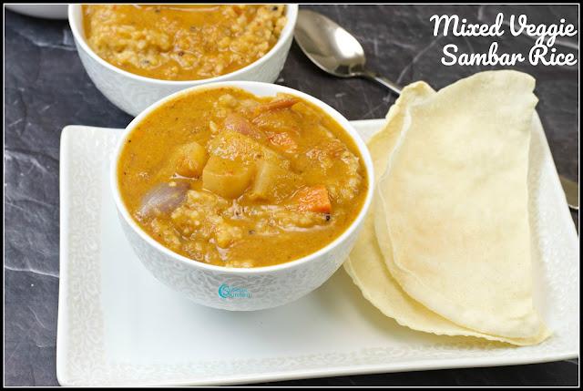 Kadamba Sambar Sadam | Sambar Rice