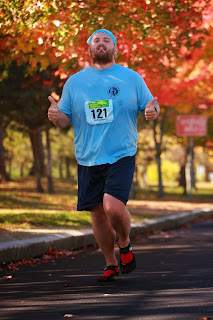 Lance Eaton in the Bay State Marathon in October, 2013