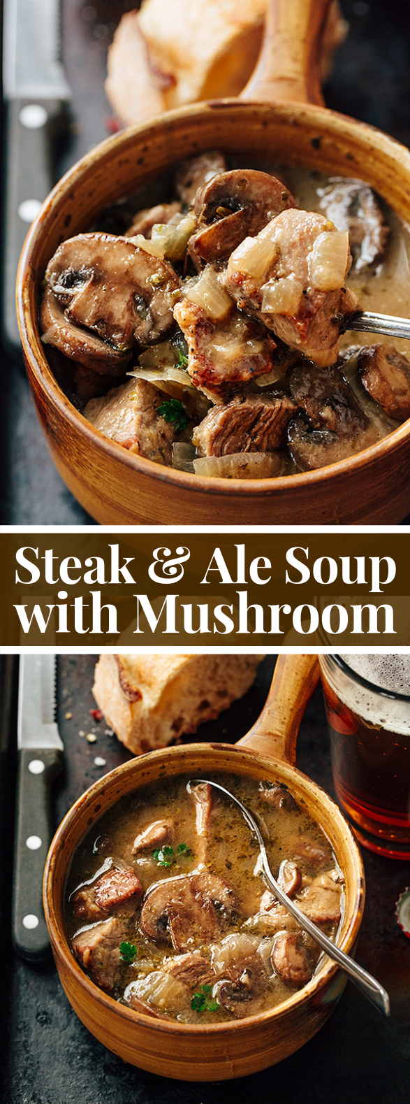 Steak and Ale Soup with Mushrooms, and the Process of Transformation #vegetarian #food