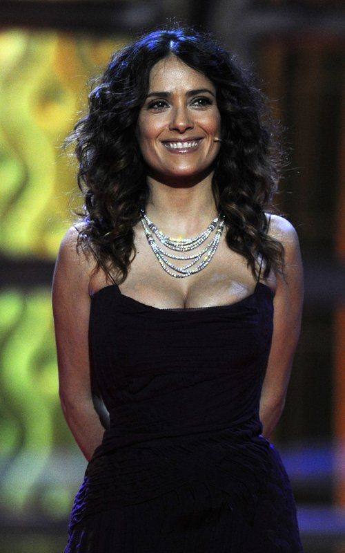 Dirty Hollywood Salma Hayek In Her Revealing See Thru Outfit
