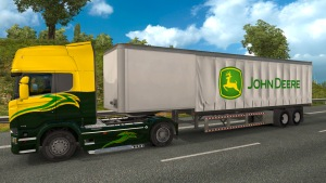 John Deere Curtain trailer mod