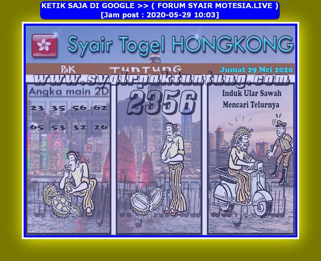 Kode syair Hongkong Jumat 29 Mei 2020 65
