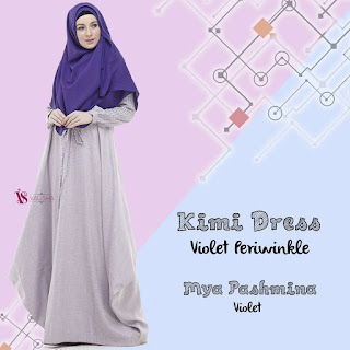 Gamis Valisha Kimi Dress Violet Periwinkle