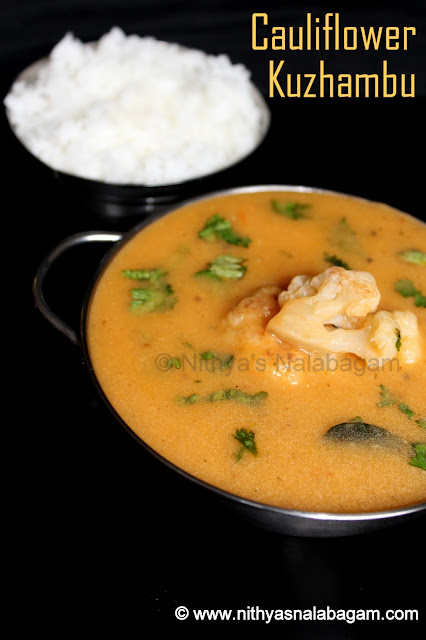 Cauliflower Kuzhambu | Cauliflower Gravy