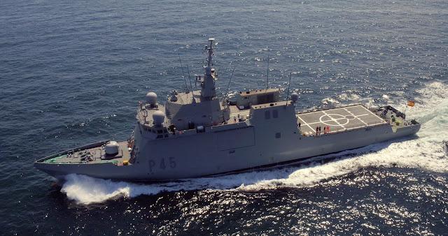"""Entrega del Buque de Acción Marítima P-45 """"Audaz"""" a la Armada"""
