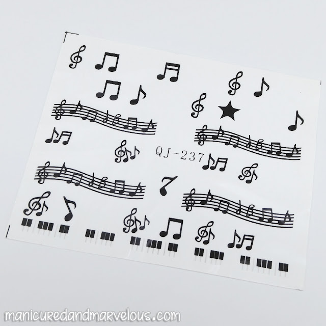 Lady Queen - Music Notes Water Decals