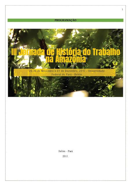 III Jornada de História do Trabalho na Amazônia