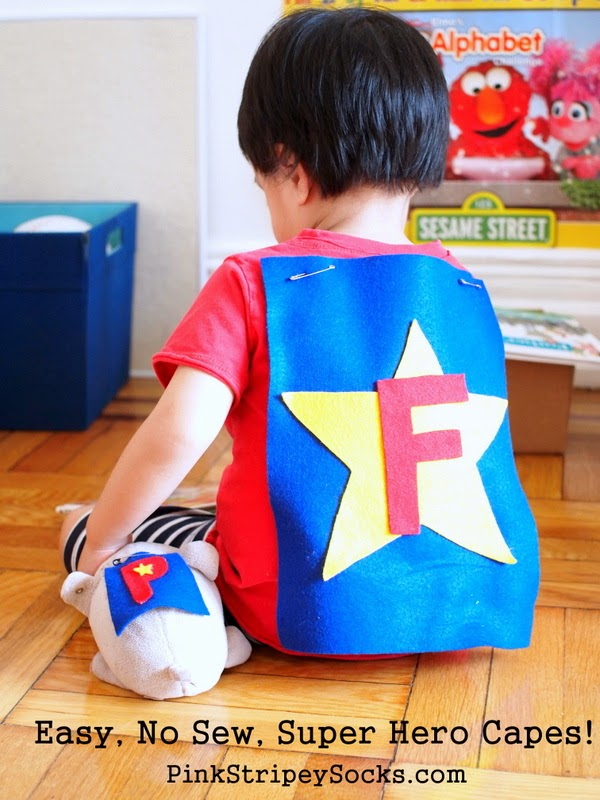 easy, no sew super hero cape!