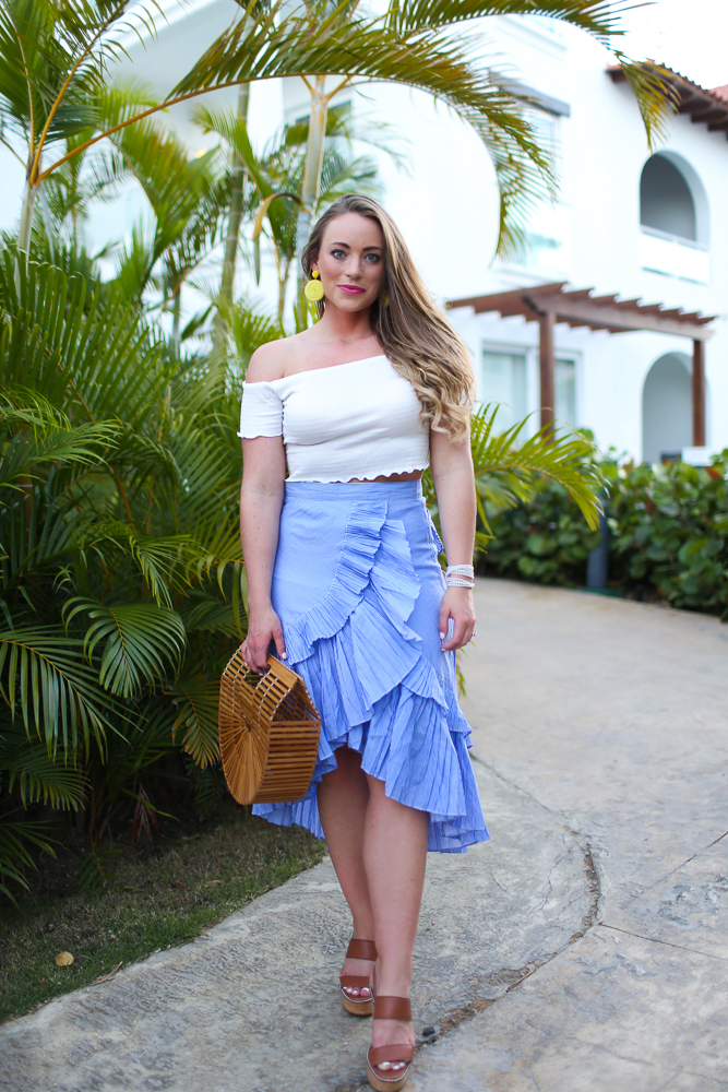 Ruffle Skirt + Crop Top