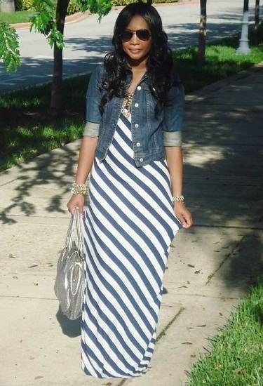 vestido de moda rayado
