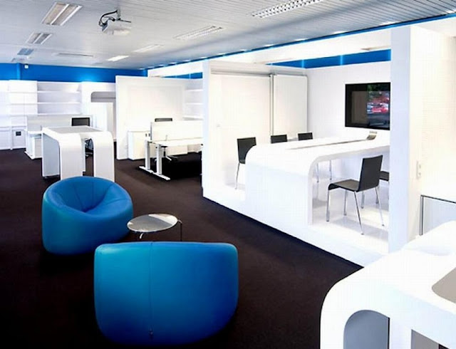 best buy modern blue and white office furniture sets for sale online
