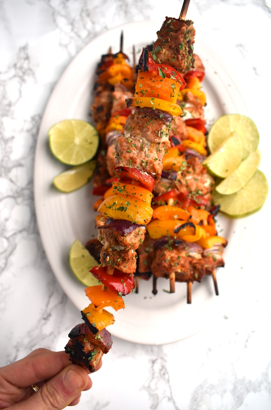 pork fajita kebab