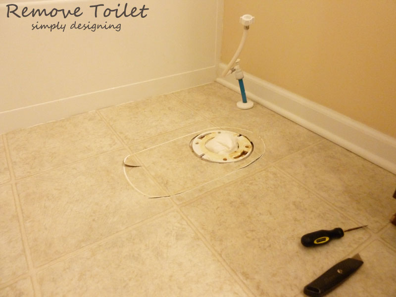Remove Toilet | #diy #tile #bathroom
