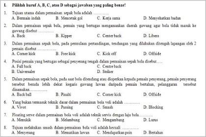 Soal UAS Penjasorkes Kelas 9 dengan Kunci Jawaban