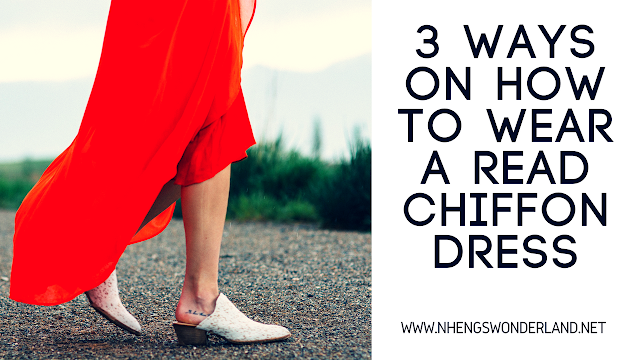 3 Ways On How To Wear A Read Chiffon Dress