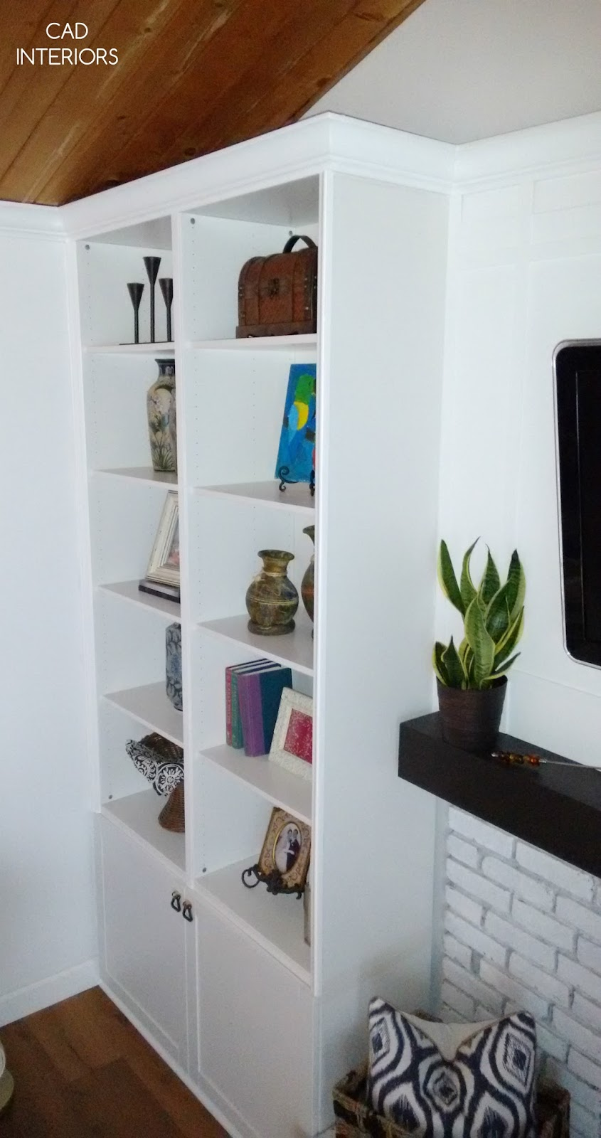 design decorating tips bookcase bookshelf built-in styling ikea