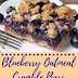 Blueberry Oatmeal Crumble Bars