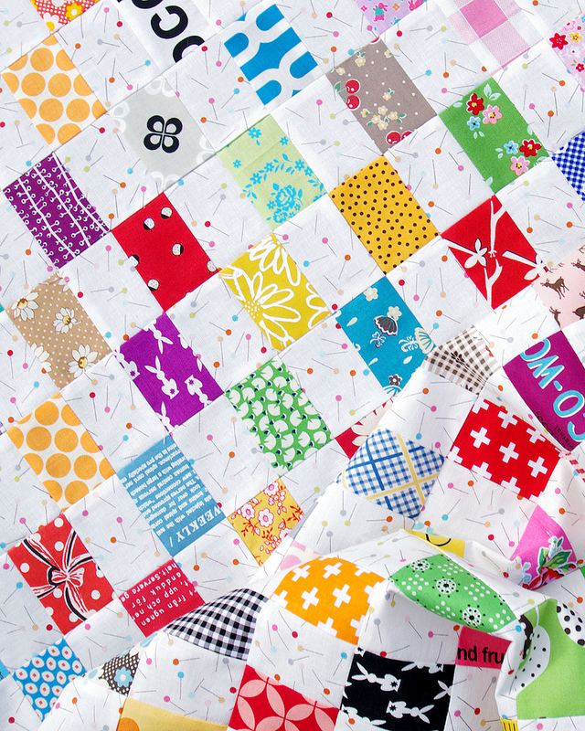 Rectangle Checkerboard Quilt | Scrap Buster Quilt | Red Pepper Quilts