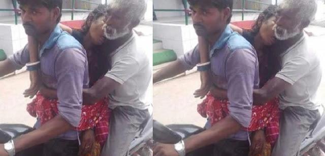 Sungguh Memilukan ! Karena Miskin dan Tak Punya Biaya Pria Ini Bawa Jenazah Istrinya dengan Motor Butut!!