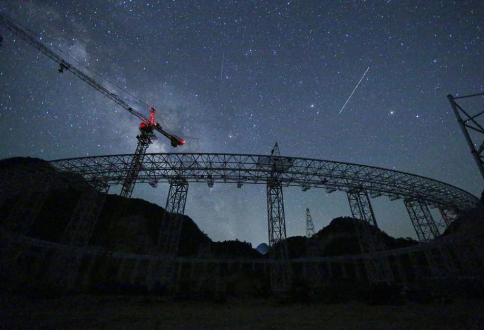 The largest radio telescope panel offline