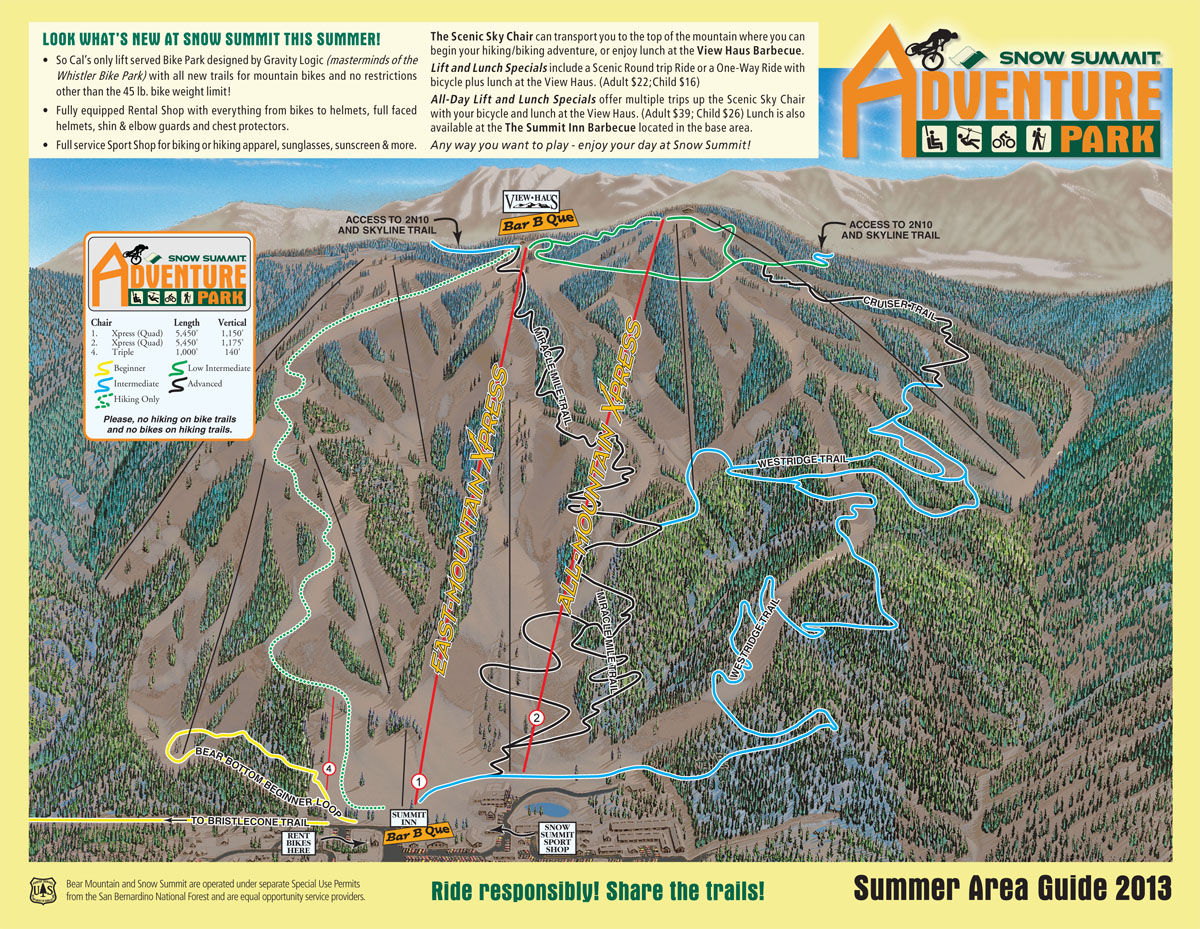 Snow Summit Mountain Bike Park ~ Adventures in Southern ... on bogus basin map, summit county map, sun valley map, canaan valley resort map, saddleback maine map, snow park map, mount snow map, heavenly map, ski liberty map, wolf creek ski area map, snowy range map, kirkwood map, vail map, alpine meadows map, loveland map, squaw valley usa map, snow trails map, summit new jersey map, alta map, tahoe donner map,