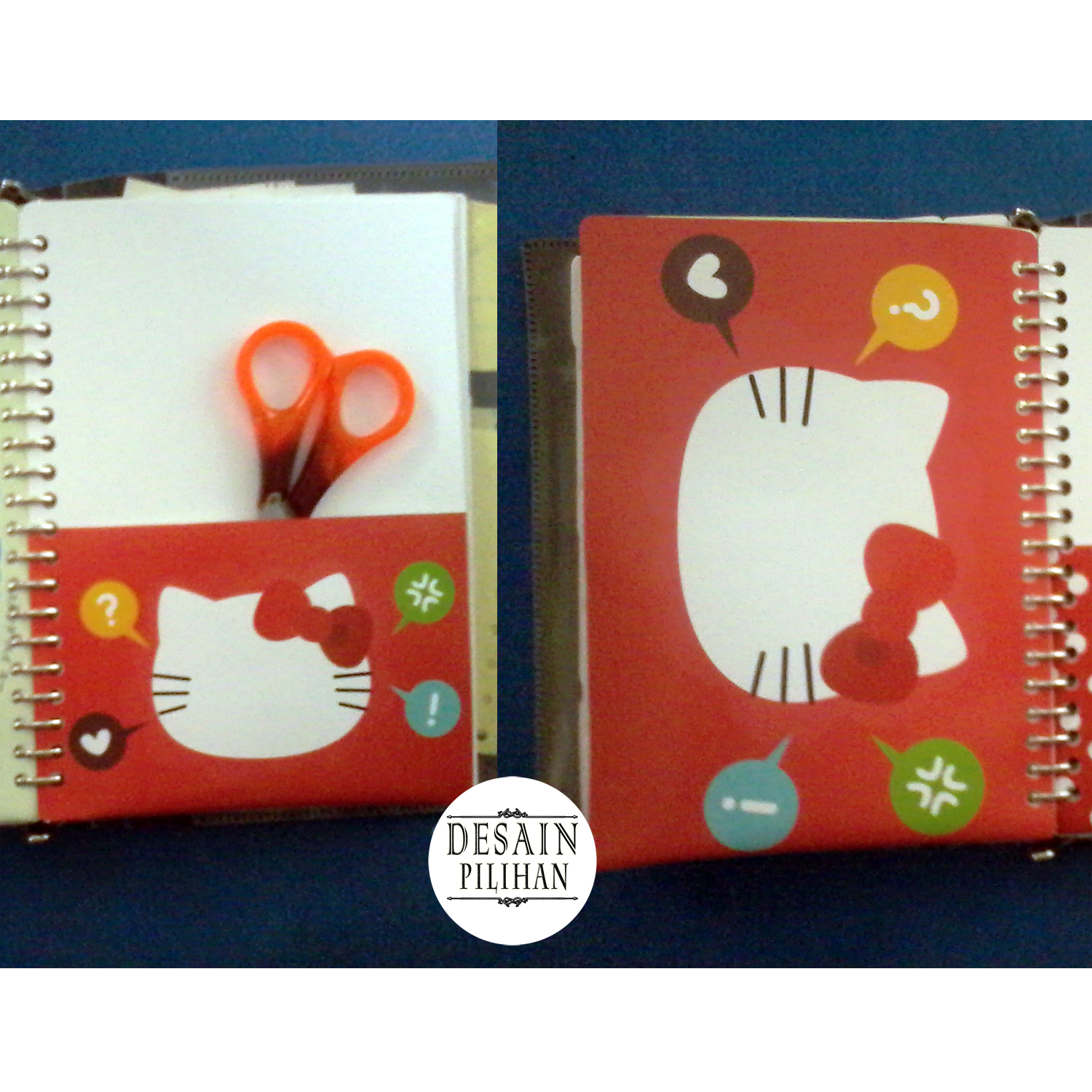 POCKET DIVIDER, KANTONG SAKU PEMBATAS BINDER CUSTOM HELLO KITTY