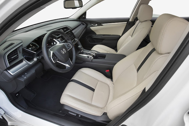 Interior view of 2016 Honda Civic