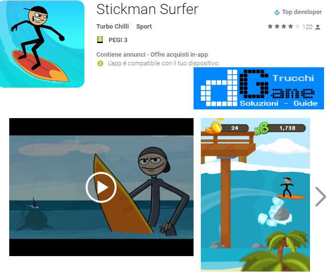 Trucchi Stickman Surfer Mod Apk Android v1.0