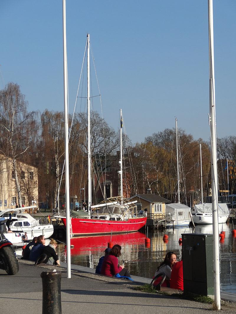 Red boat in Djurgården